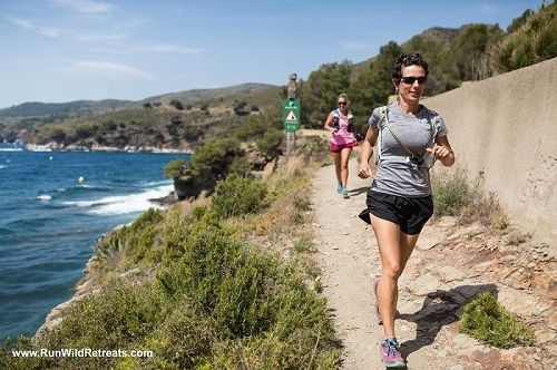 Runners enjoy Mediterranean Sea at the Costa Brava Running + Wellness Retreat.