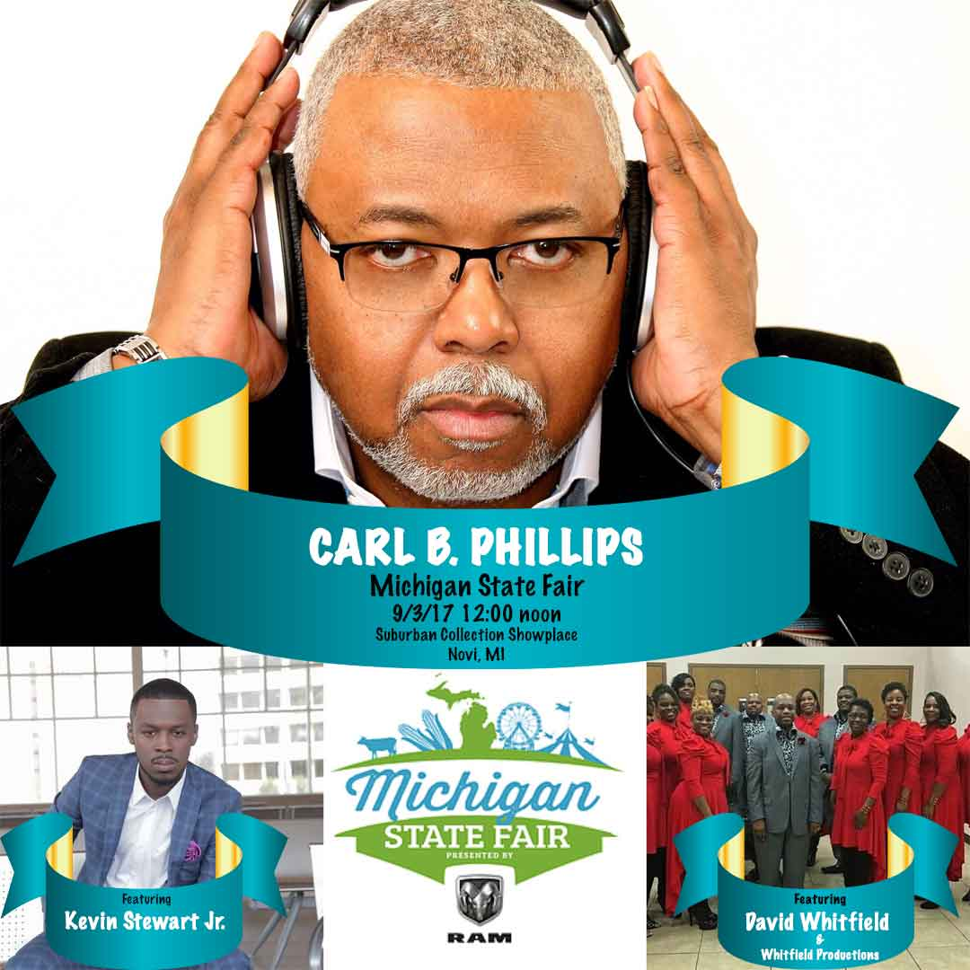 Carl B. Phillips Appearing at the Michigan State Fair