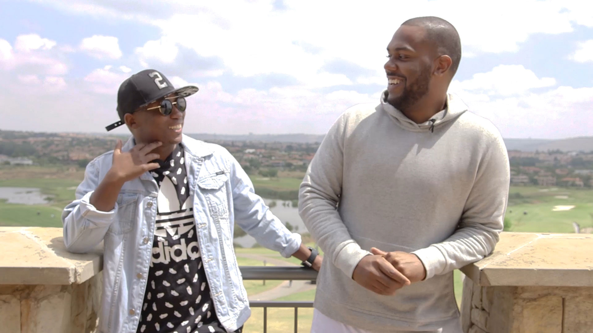 DJ SuperNova and Khuli Chana in Roodepoort, Johannesburg. Credit: Ken FTW