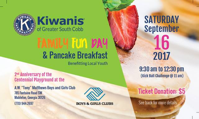Family Fun Day and Pancake Breakfast Benefitting Local Youth