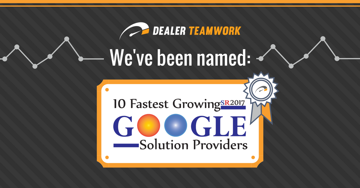 10 Fastest Growing Google Solutions Providers - SR