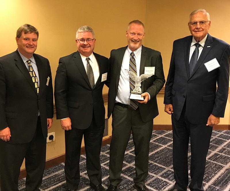 ITI Chairman Mike Lemon receiving NACFAM Advanced Manufacturing Leadership Award