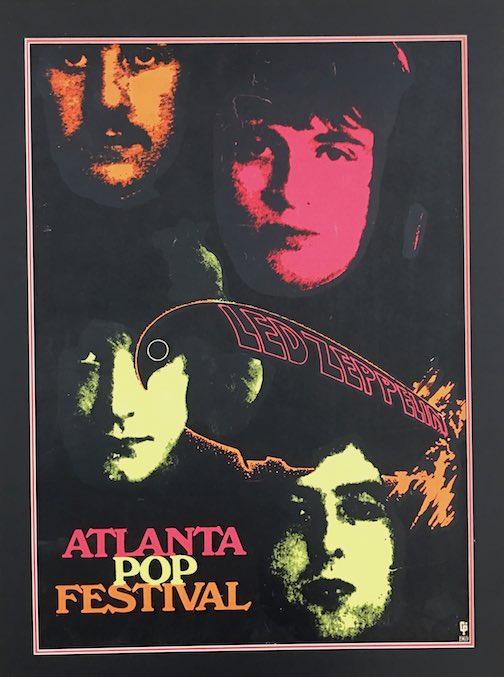 Rare 1969 Led Zeppelin Atlanta Pop Poster