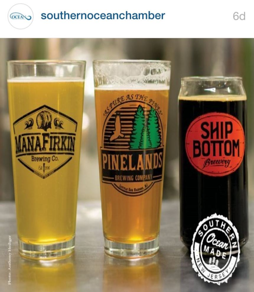 Southern Ocean Made Brew Trail representing the LBI Region