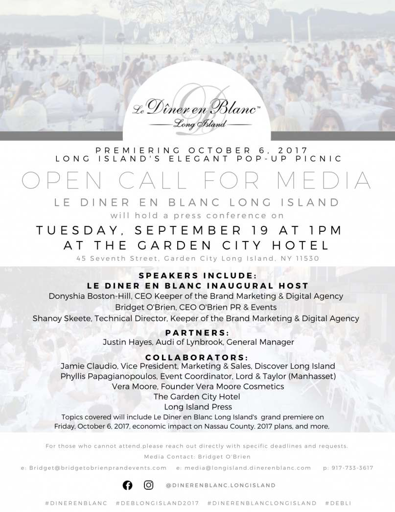 Join D 238 Ner En Blanc Long Island For Press Conference For