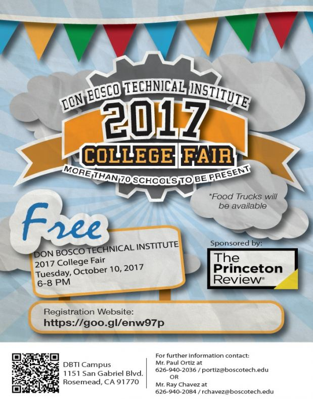 Bosco Tech College Fair is Oct. 10
