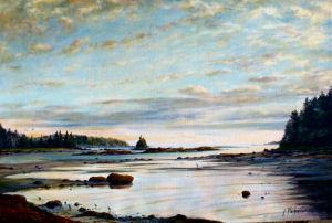 "Jane Herbert ~ ""Sunset on the Flats"" ~ Acrylic on Canvas 20"" x 30"""
