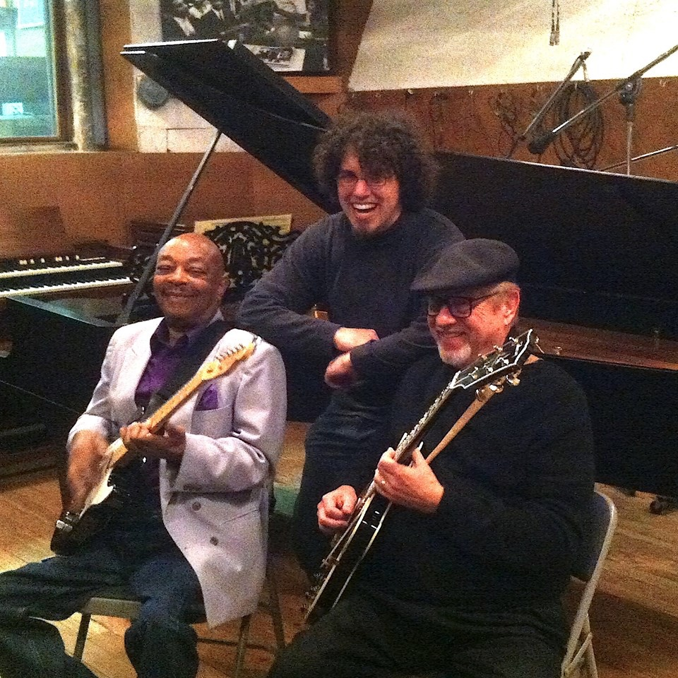 Eddie Willis, Drew Schultz, Dennis Coffey in Motown Studio A
