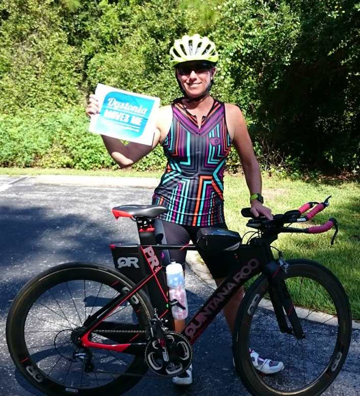 Jennifer Middlebrook will compete in Ironman race despite dystonia.