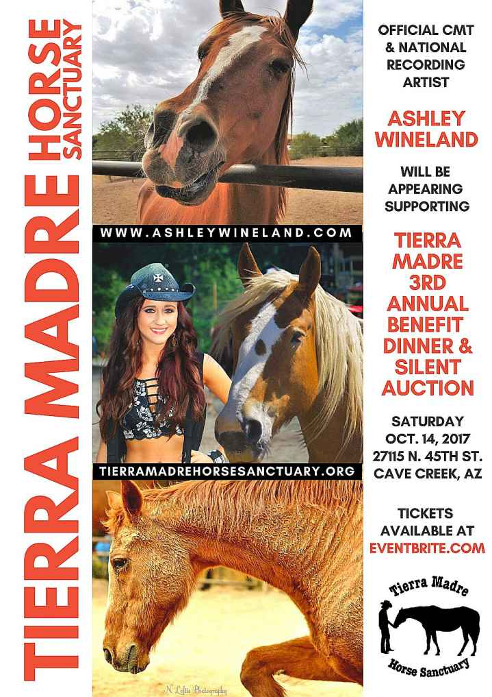 Ashley Wineland Appearing at Tierra Madre Horse Sanctuary Benefit Event