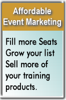 Training search registration and marketing tools