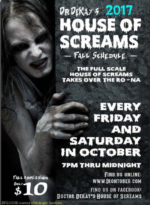 Doctor DeKay's House of Screams presents a newly designed haunt this October.