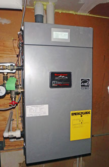 New high-efficiency boiler installed at Case Grade Apartments.