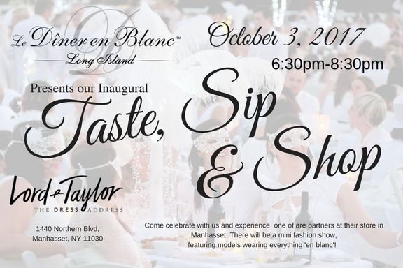 Taste, Sip, and Shop October 3, 2018