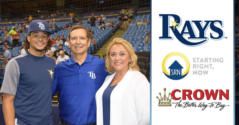 Chris Archer,  Melissa Myers & Jim Myers (President of Crown Auto Group)