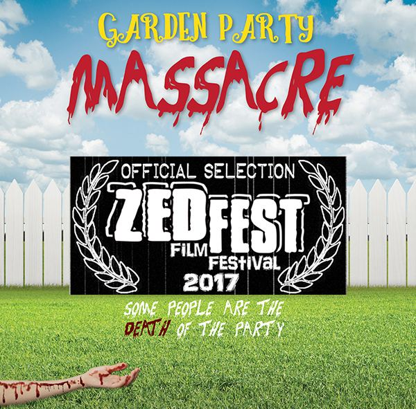 """Garden Party Massacre"" Poster with ZEDFEST logo"