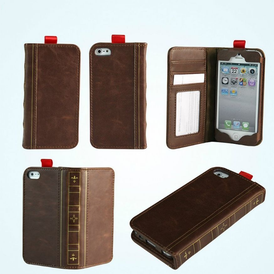 11974652-iphone-5-wallet-book-case-leather-brown