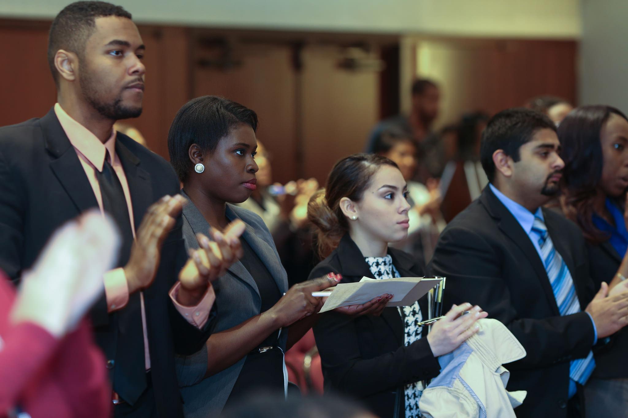Aspiring lawyers at plenary session
