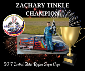 Zachary Tinkle is the 2017 Central States Region Super Cups Champion