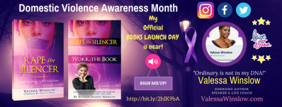 "Valessa Winslow Announces Official Book Launch is near for ""Rape The Silencer"""