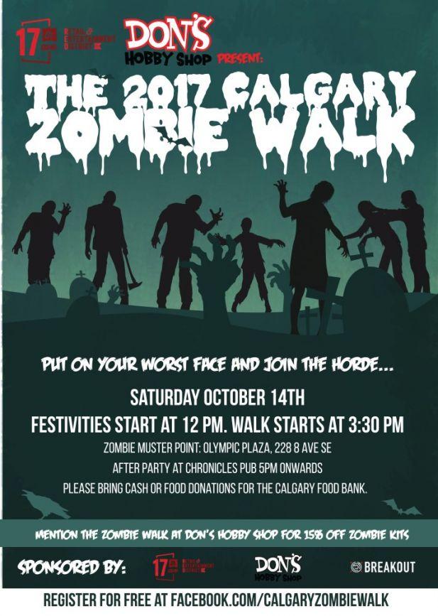 The 2017 Calgary Zombie Walk