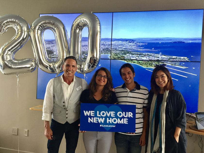 The San Francisco Shipyard warmly welcomes the 200th homeowners to the community