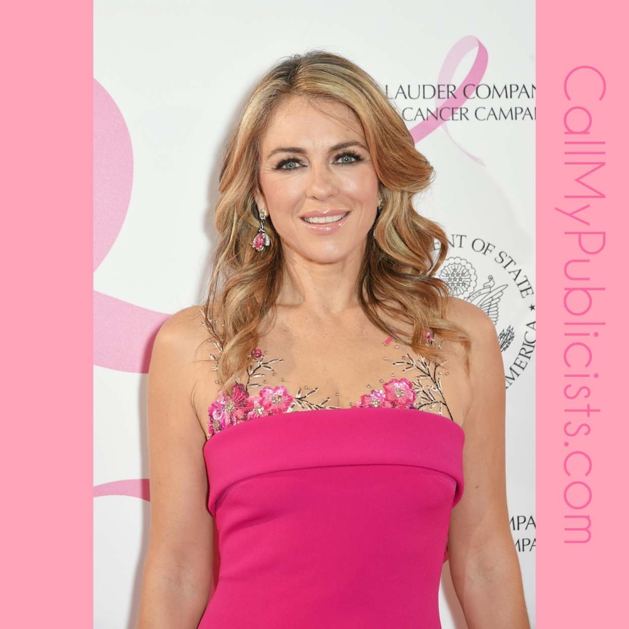 Elizabeth Hurley Celebrating 25 Years Of The Pink Ribbon - CallMyPublicists.com