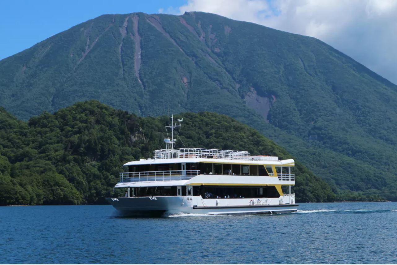 "Pleasure Boat ""Nantai"" on Lake Chuzenji"