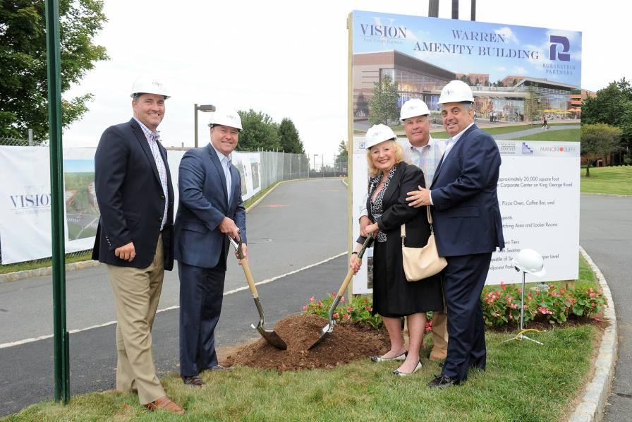 Groundbreaking for Warren Corporate Center Amenity Hub