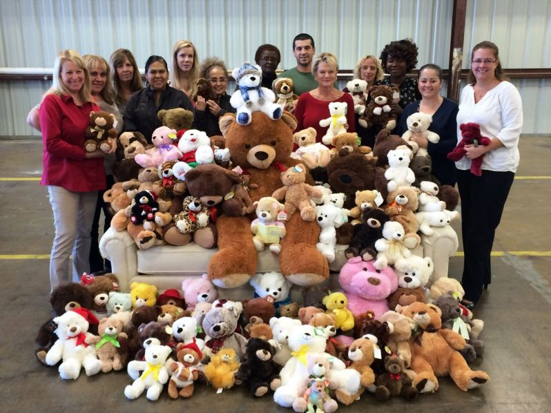 Norris Furniture & Interiors collected bears for 2016 Festival of Trees