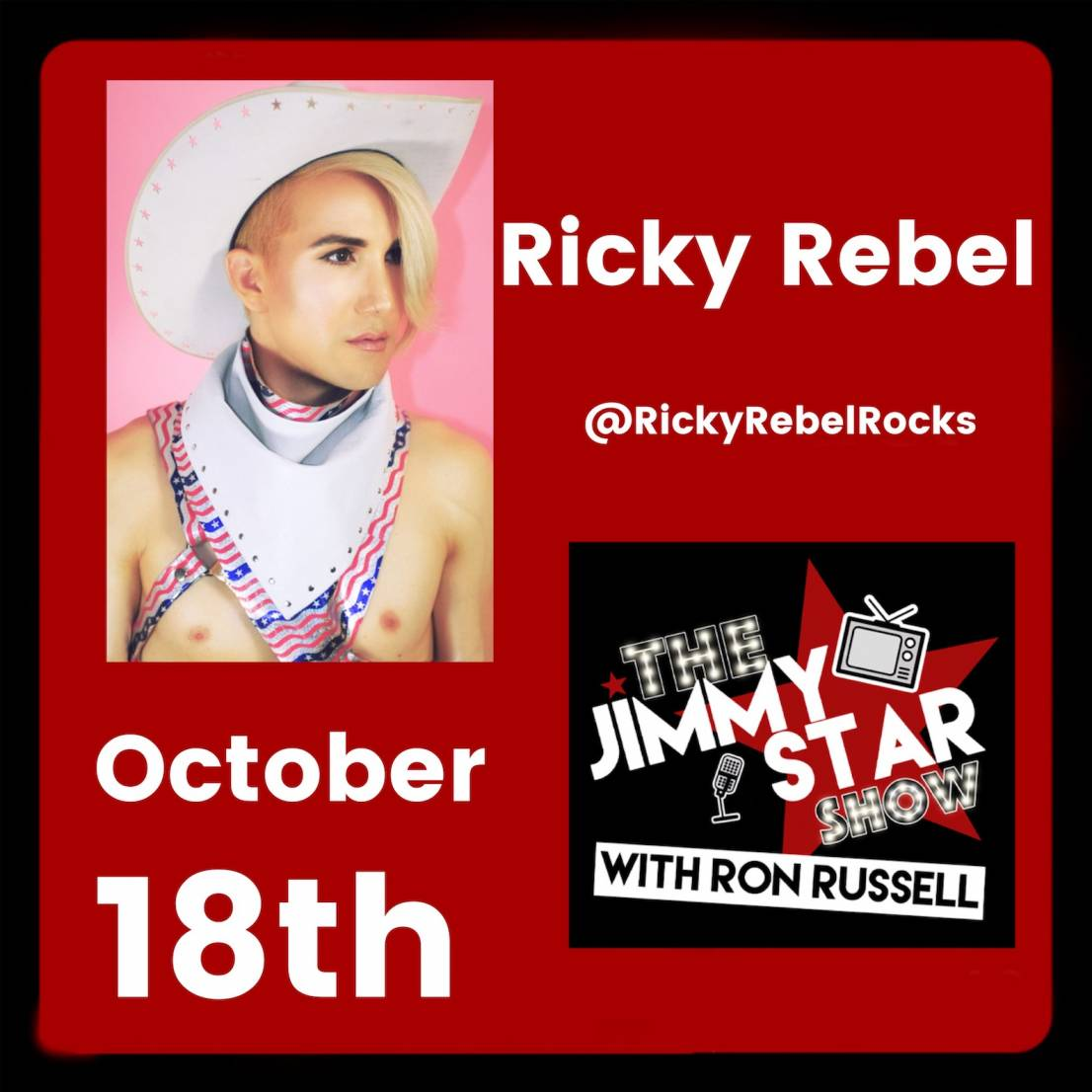 Ricky Rebel On The Jimmy Star Show With Ron Russell