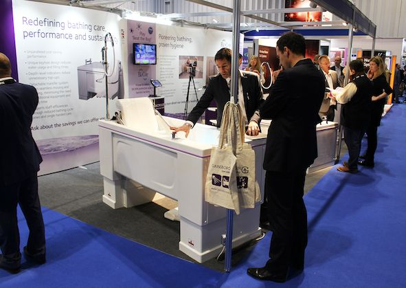 Gainsborough Specialist Bathing at the Care Show 2017.