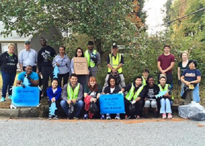 Volunteers Painted Storm Drains During a Recent Great Days of Service Event
