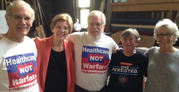 Sen. Warren with PDA Organizers