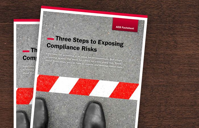 Three Steps To Exposing Compliance Risks Free Fact Sheet From Aeb
