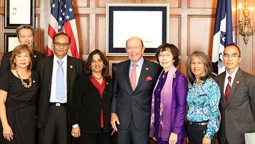 USPAACC Team with U.S. Commerce Secretary Wilbur Ross