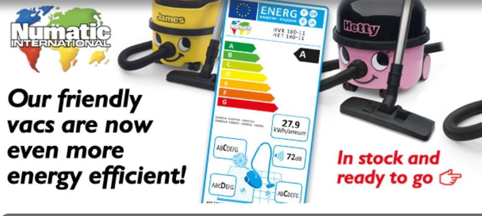Anderson Trade offers a wide range of energy efficient vacuum cleaners