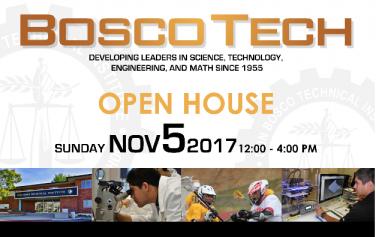 Bosco Tech's Open House is Nov. 5