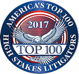 2017 High Stakes Litigator Award
