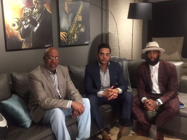 Terrace Daniels, Jay Amin and Malcolm Jenkins, in BoConcept Lounge