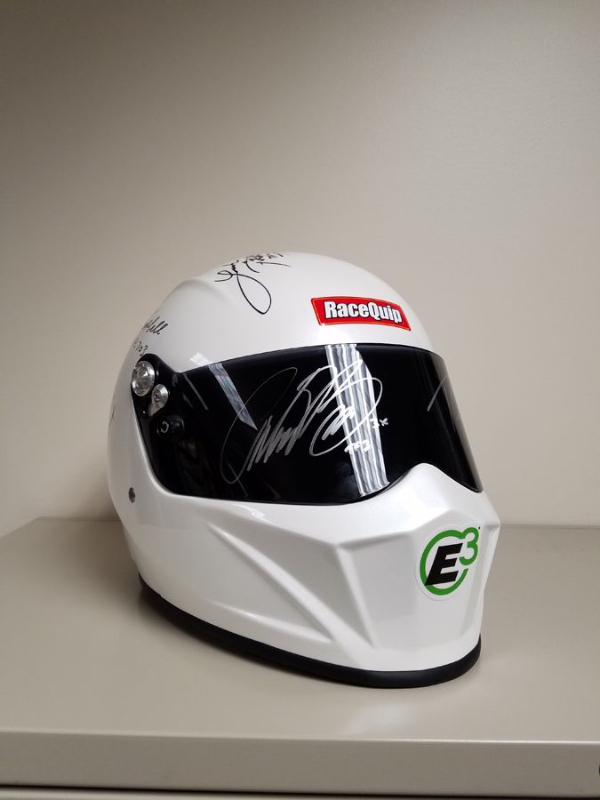 NHRA Signed Helmet is part of the grand prize for the E3 Why I Run E3 Contest