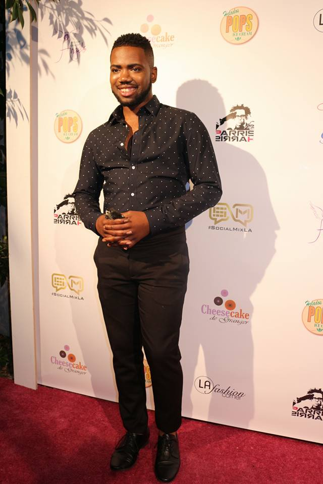 On the red carpet at LAFashion Corner and SocialMixLA event