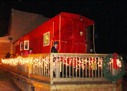 The Sadieville Train Car transforms into the Polar Express for the holidays.
