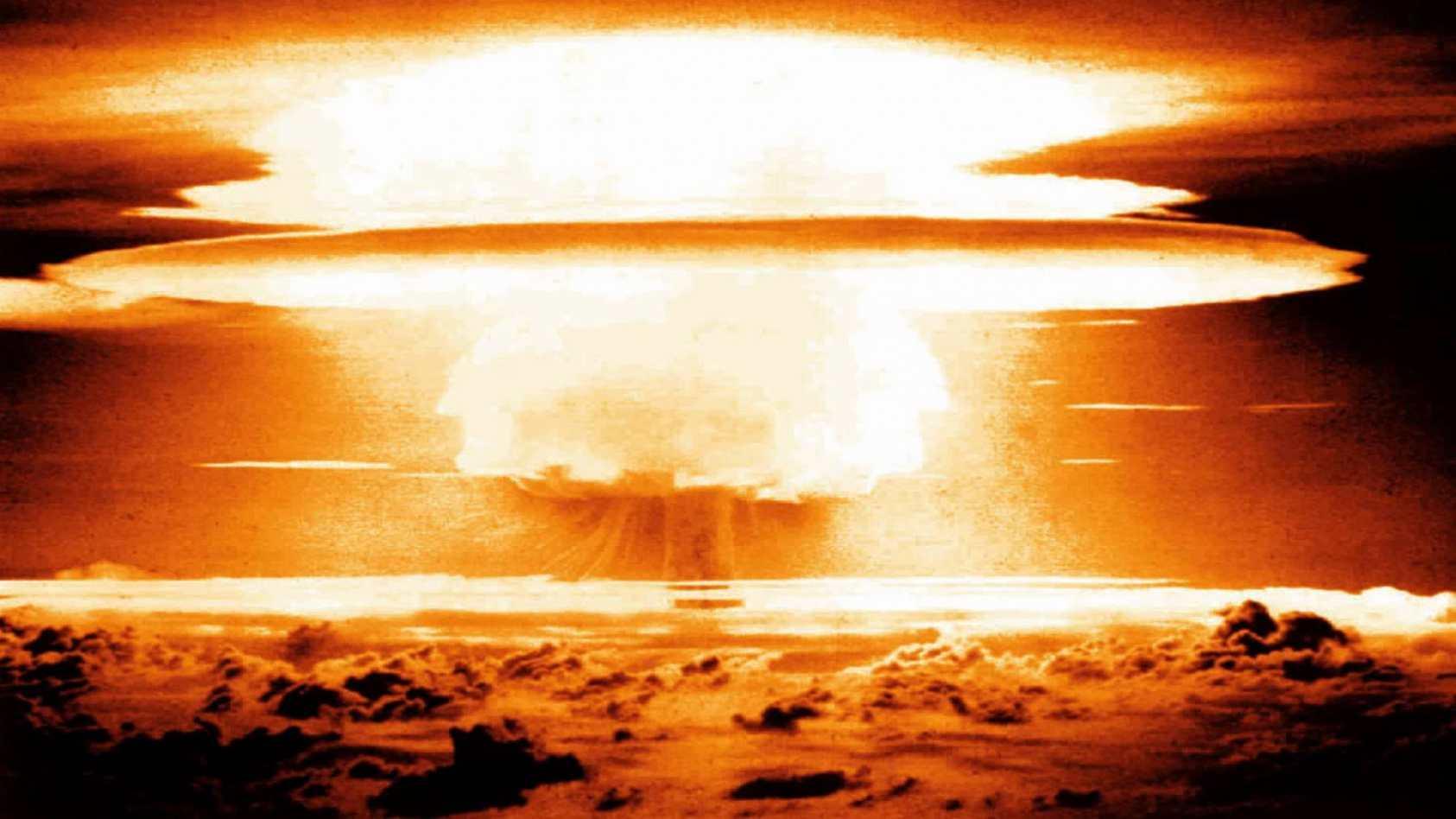 Nuclear Warhead Test Explosion