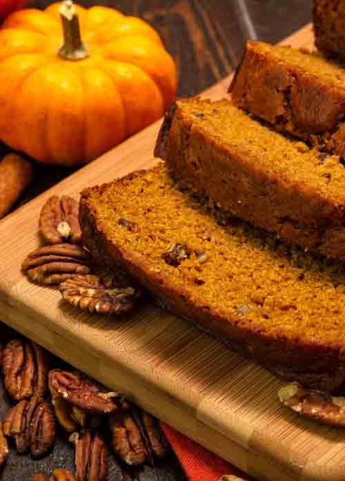 Autumn Spiced Pumpkin Bread