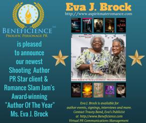 Beneficience Announces Our New Award-winning Author PR Star Client, Eva J. Brock