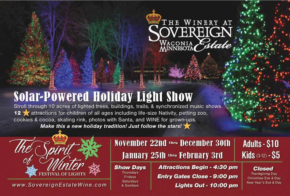 The Spirit Of Winter Holiday Light Show Comes To The Winery At