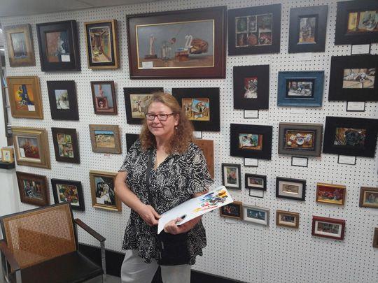 Artist Debra Keirce at Seaside Art Gallery