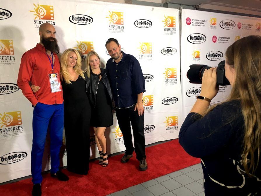 Janine with director Scott Donovan, producer Rachel Ryling & actor Paul Duke