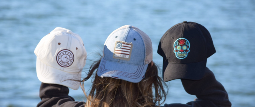 Nogginwear Coffee Hat, Old Glory Hat & Day of the Dead Hat